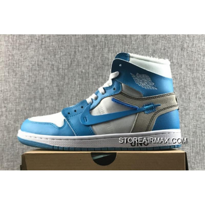 "214c84e8221e Off-White X Air Jordan 1 ""UNC"" White University Blue Online ..."