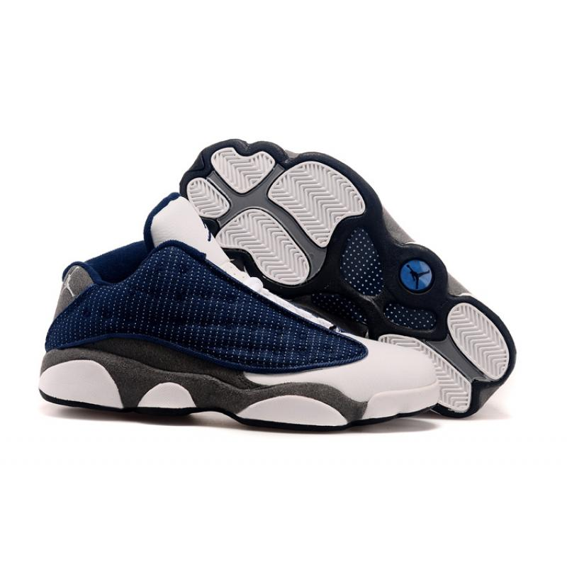 161510c27b3 New Air Jordan 13 Low French Blue/University Blue-Flint Grey Top Deals ...