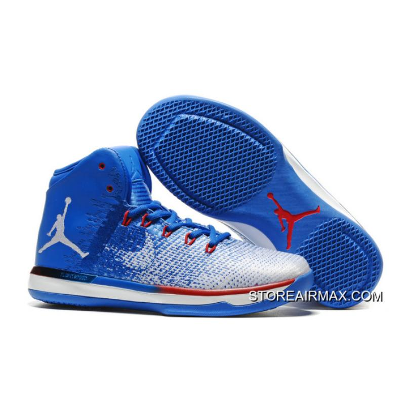 "official photos 7a26a ba3ac New Style Air Jordan XXXI ""Olympics"" USA Deep Royal Blue White University  Red ..."