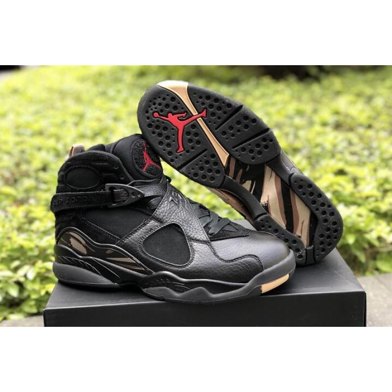 "27a72fea303a Air Jordan 8 ""OVO"" Black Blur-Metallic Gold-Varsity Red Discount ..."