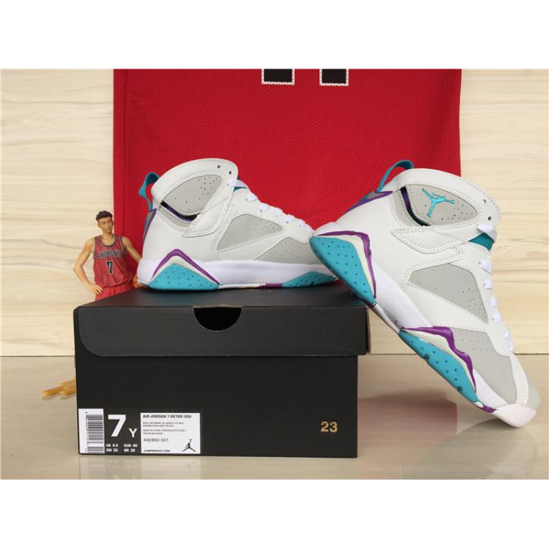 release date 9c201 2029f ... New Air Jordan 7 GS Neutral Grey Mineral Blue Outlet ...