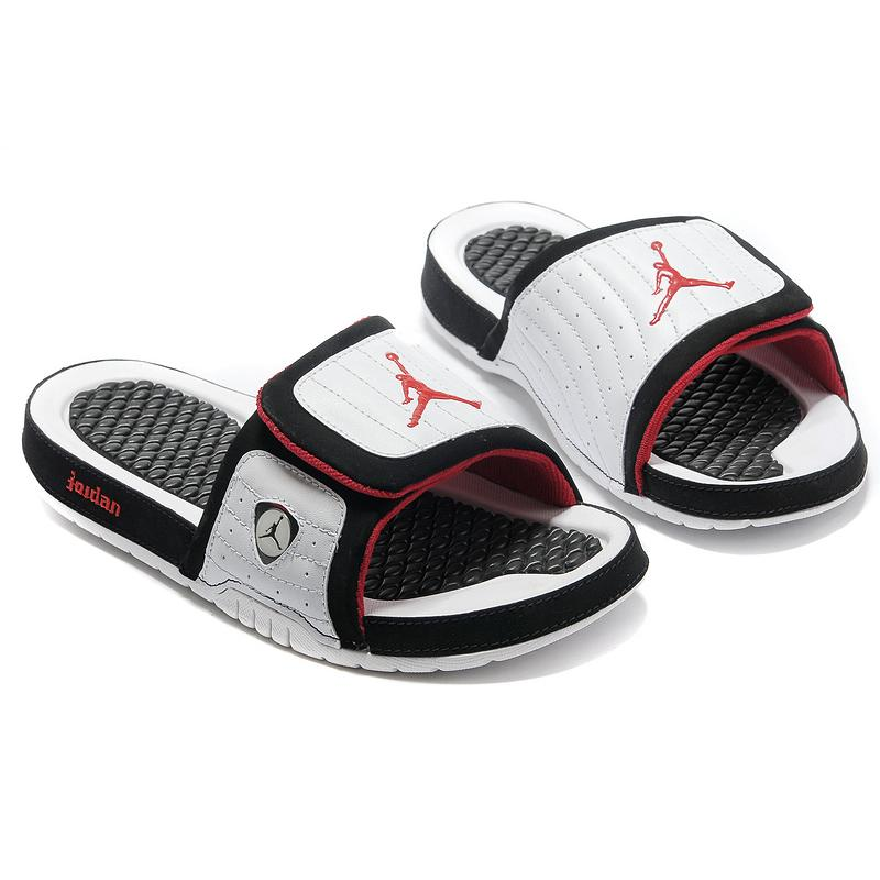 26ddfda284e0 Top Deals Air Jordan Hydro 14 White Black Red Slide Slippers ...