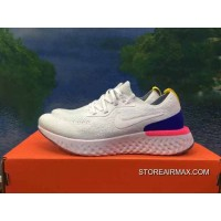 80aabb42f51 Women Outlet Have The Nike Epic React Flyknit Foam Particles AQ0070-101  Precious Blue White