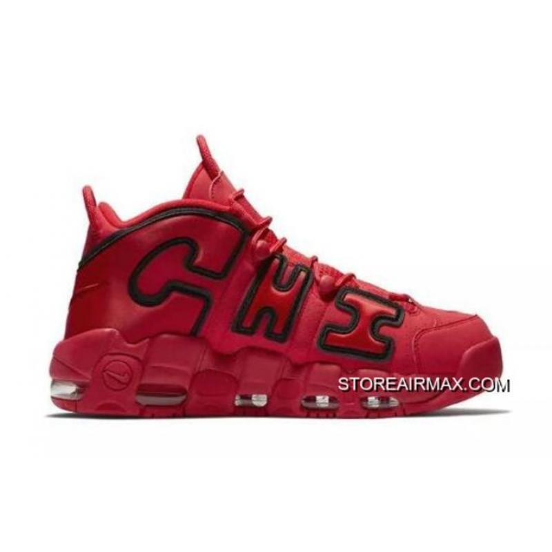 "buy popular 51e29 820f6 Nike Air More Uptempo QS ""Chicago"" Black University Red-White New Year ..."
