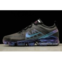 ba1094bf0107 Women Men New Style Nike Air VaporMax 2019 Run Utility Black Blue-Multi