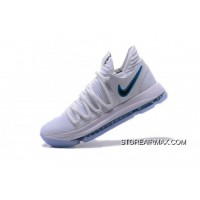 """3de78bc63036 Nike KD 10 """"Numbers"""" White Game Royal-University Gold Basketball Shoes  897815"""