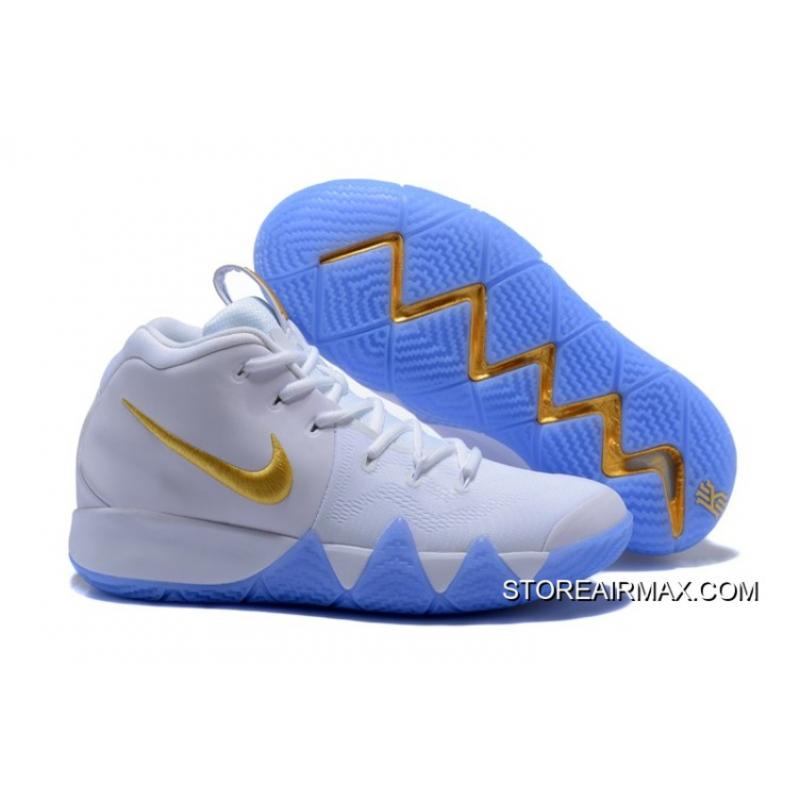 6789ded8674 New Year Deals Nike Kyrie 4 White Gold ...