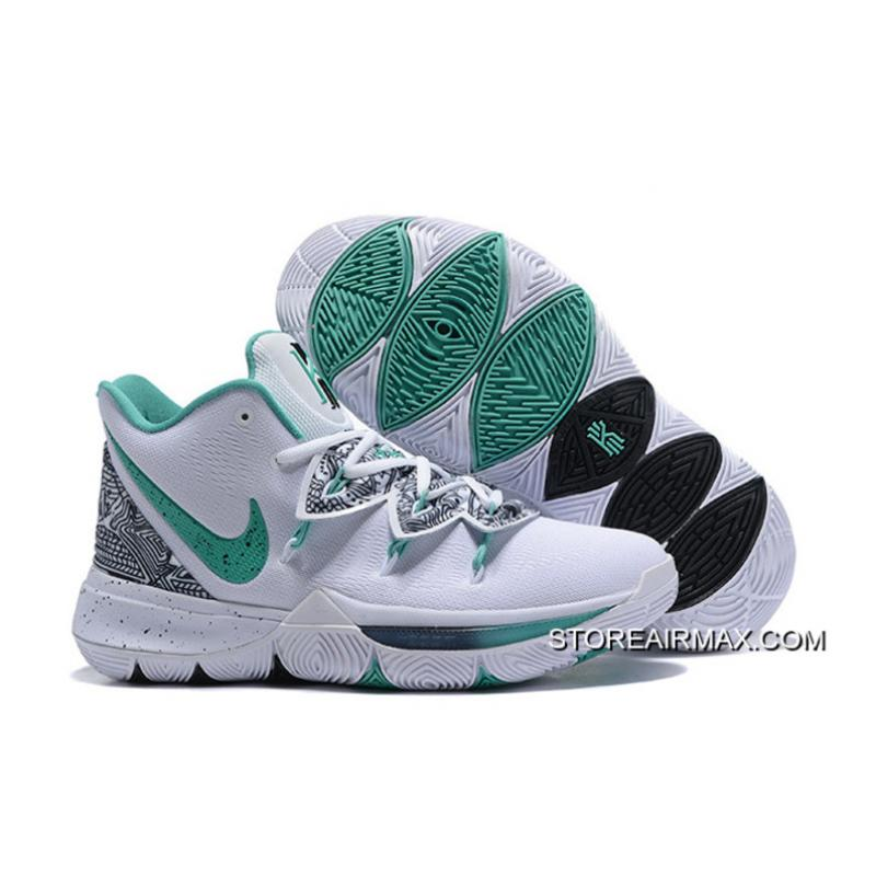 """47d168a2dfd8 Nike Kyrie 5 """"Unveiled"""" PE White Green-Black Free Shipping ..."""