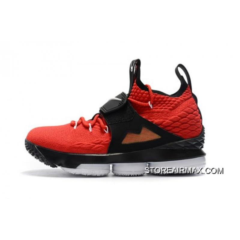 df8461c701e58c Online Men s Nike LeBron 15 Red Alternate Diamond Turf Basketball Shoes ...