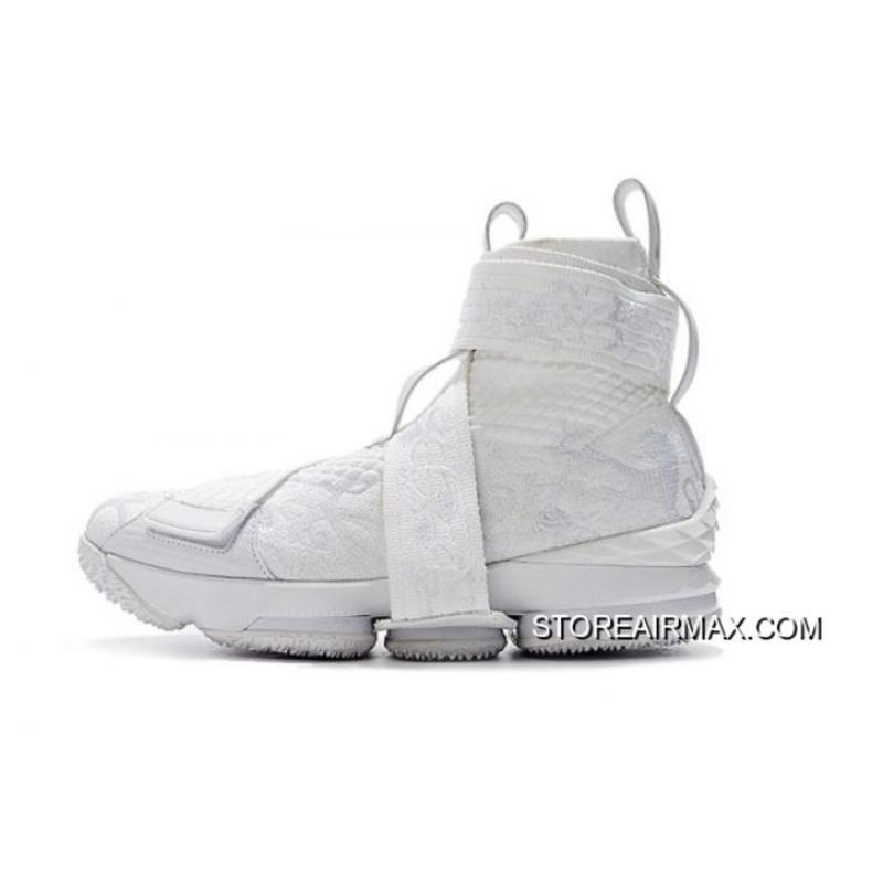 """a30bede2128 Big Discount KITH X Nike LeBron 15 Lifestyle City Of Angels """"Triple White""""  Men s ..."""