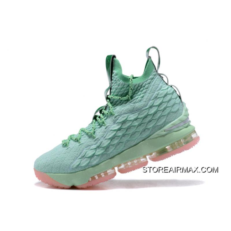 cheaper 5c5ac 629a6 ... Nike LeBron 15 Mint Green Pink Men s Basketball Shoes Where To Buy ...