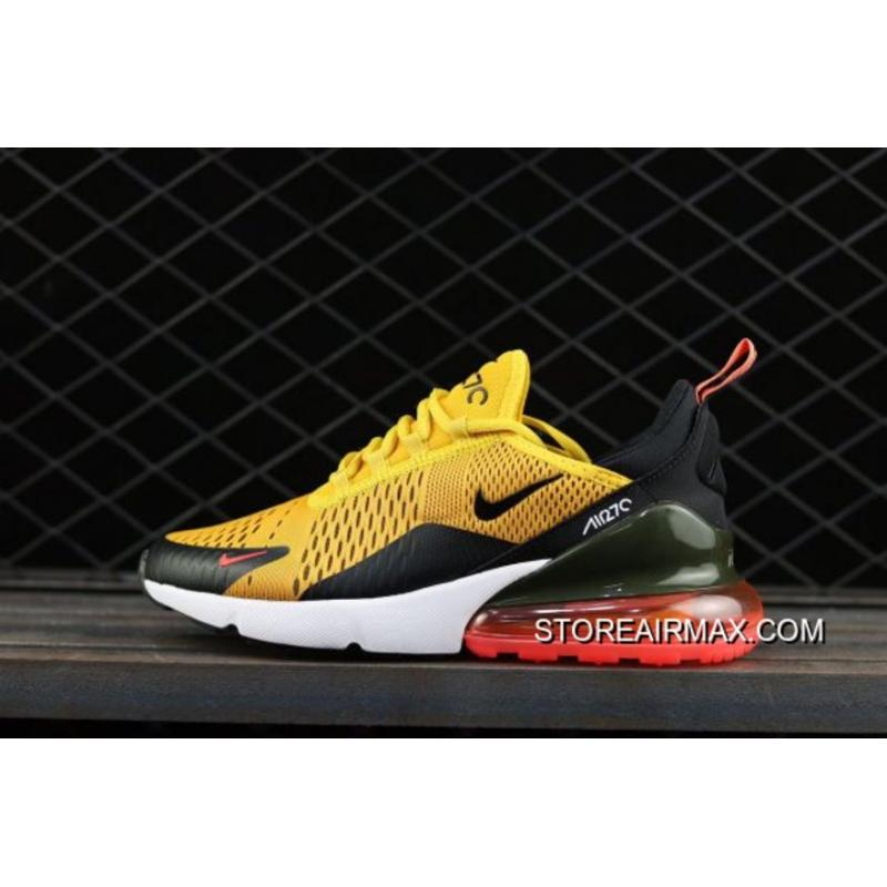 Nike Air Max 270  Tiger  Black University Gold-Hot Punch-White ... a47d06caa5fd