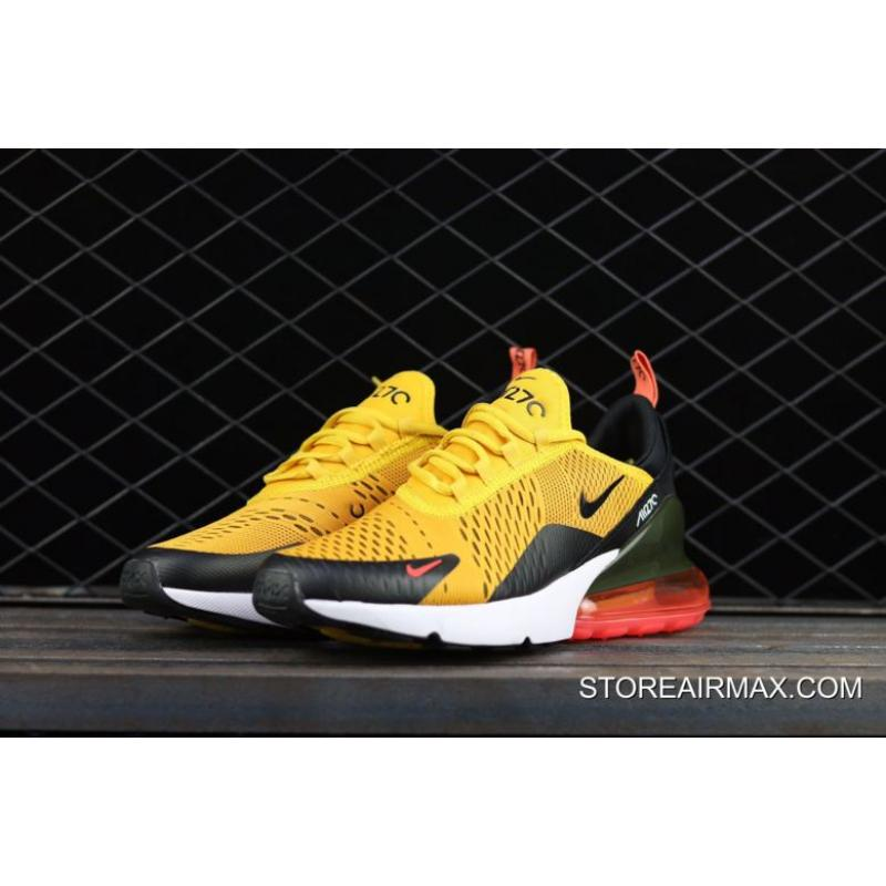 ... Nike Air Max 270 'Tiger' Black/University Gold-Hot Punch-White ...