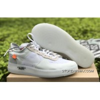 """OFF-WHITE X Nike Air Force 1 Low """"Ghosting"""" White-Sail Copuon"""