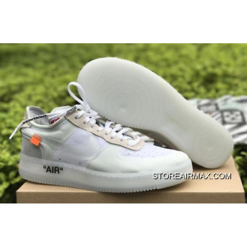 "half off 6cbb7 06119 OFF-WHITE X Nike Air Force 1 Low ""Ghosting"" White-Sail Copuon"