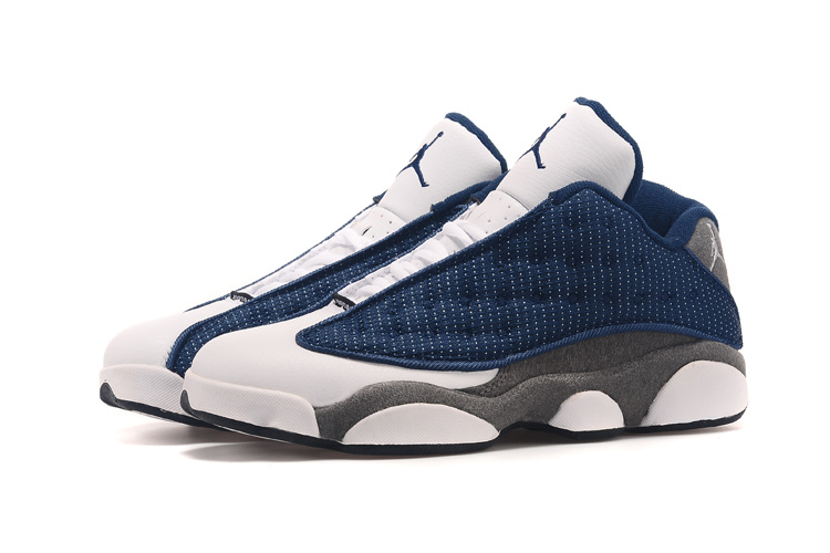more photos b14a5 222c5 New Air Jordan 13 Low French Blue University Blue-Flint Grey Top Deals