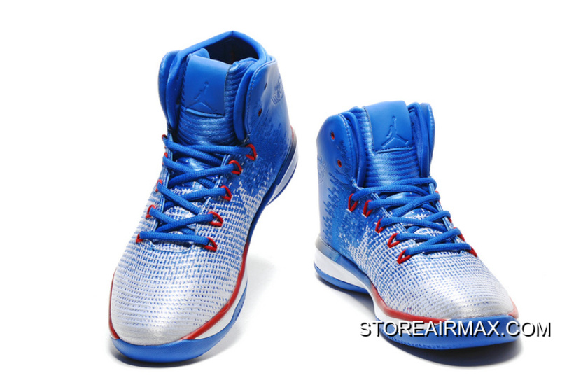 "more photos 7a882 3a136 New Style Air Jordan XXXI ""Olympics"" USA Deep Royal Blue White University  Red"