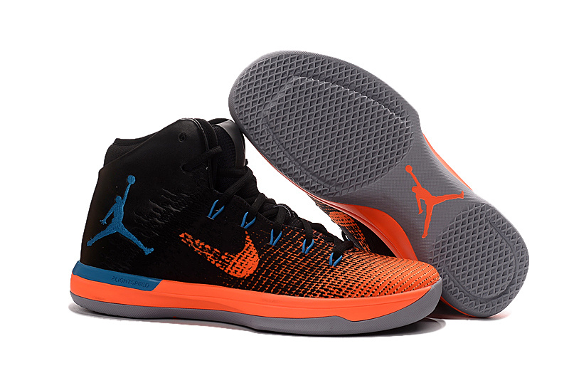 3d2e349731e7 Air Jordan XXX1 Black Orange Blue Basketball Shoes Top Deals