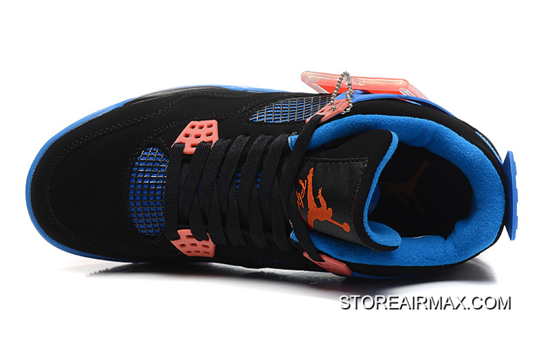 "f5c79c09a1cd New Air Jordan 4 Retro ""Cavs"" Black Orange Blaze-Old Royal Online ..."