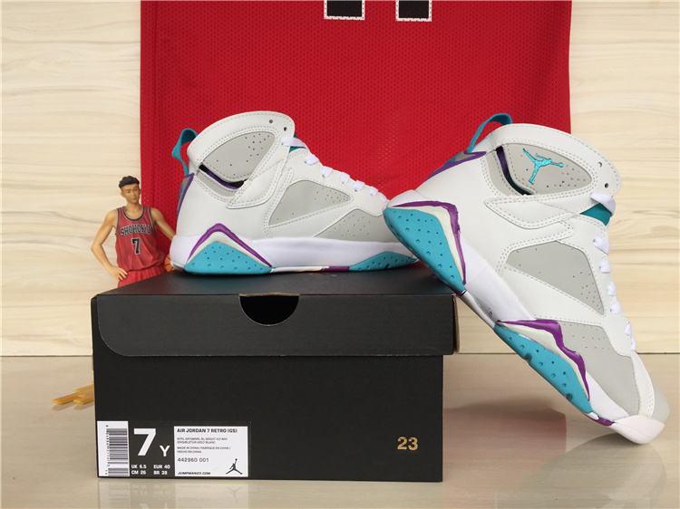 e477d38791be New Air Jordan 7 GS Neutral Grey Mineral Blue Outlet