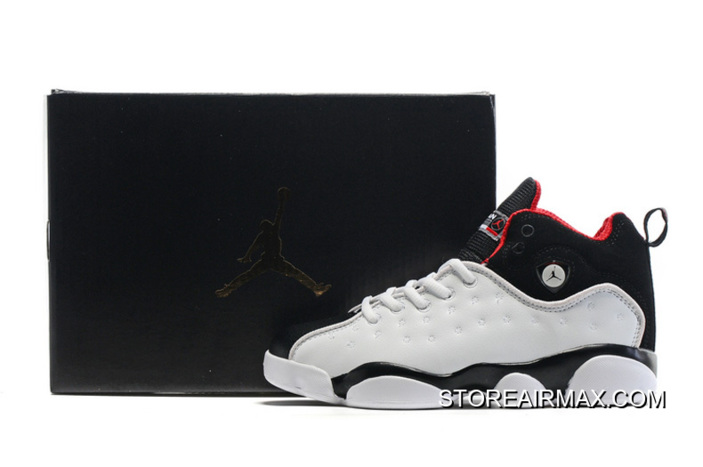 db7c5ce76e08 New Jordan Jumpman Team 2 GS White Black-Varsity Red New Year Deals ...
