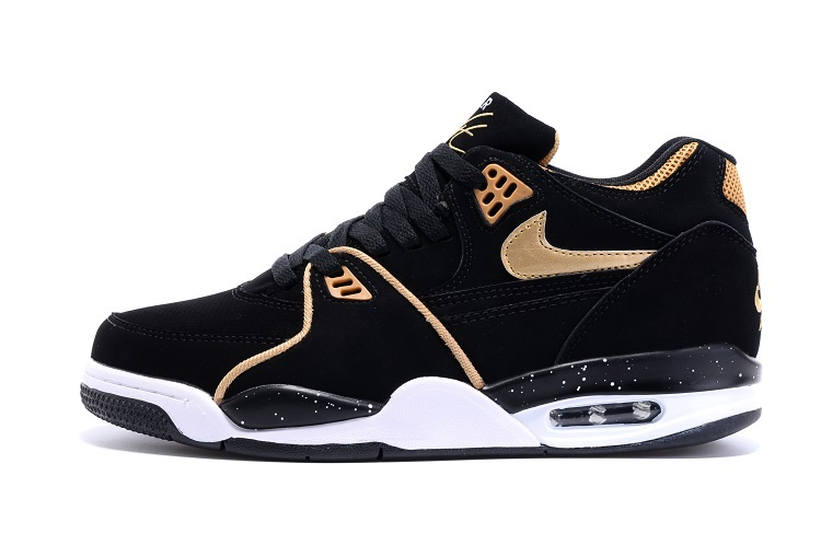 43c465ee8ef6 New Year Deals Nike Air Flight  89 Black Metallic Bronze-White Shoes ...