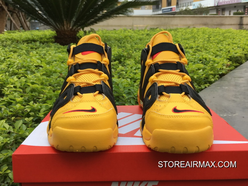 """73a978ec05 For Sale Bruce Lee Nike Air More Uptempo """"Kill Bill"""" Black/Yellow ..."""