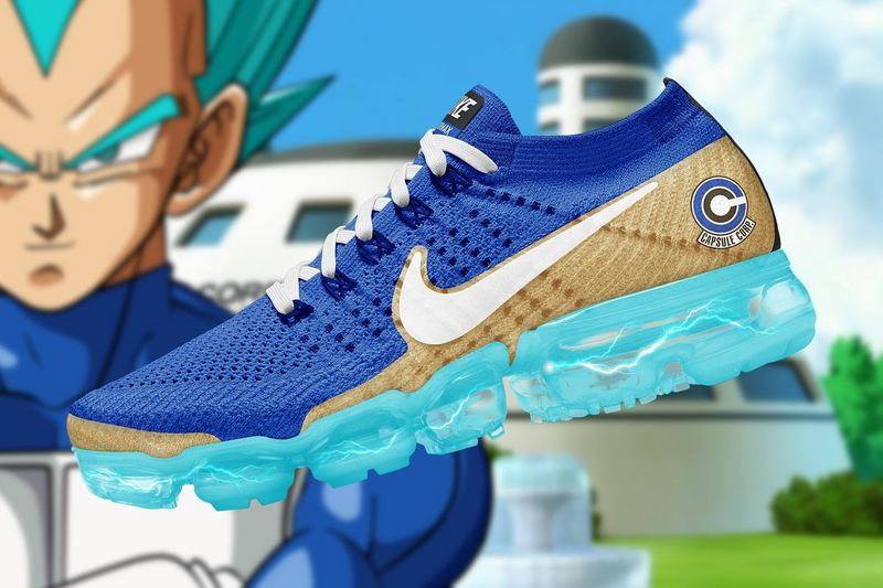 c6c0eb55836 Men Shoes Dragon Ball Z X Nike Air VaporMax Flyknit Steam Zoom Air  All-match Jogging