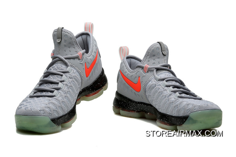 edc485fdc96 Big Discount Nike KD 9 Limited Edition Gray Black Red Fluorescence ...