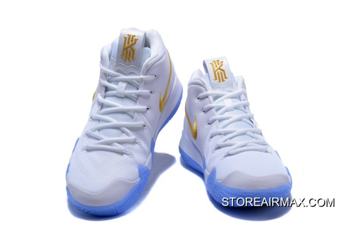 e745fb2dc12 New Year Deals Nike Kyrie 4 White Gold