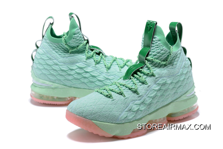 cheaper 43247 ad71c Nike LeBron 15 Mint Green Pink Men's Basketball Shoes Where To Buy