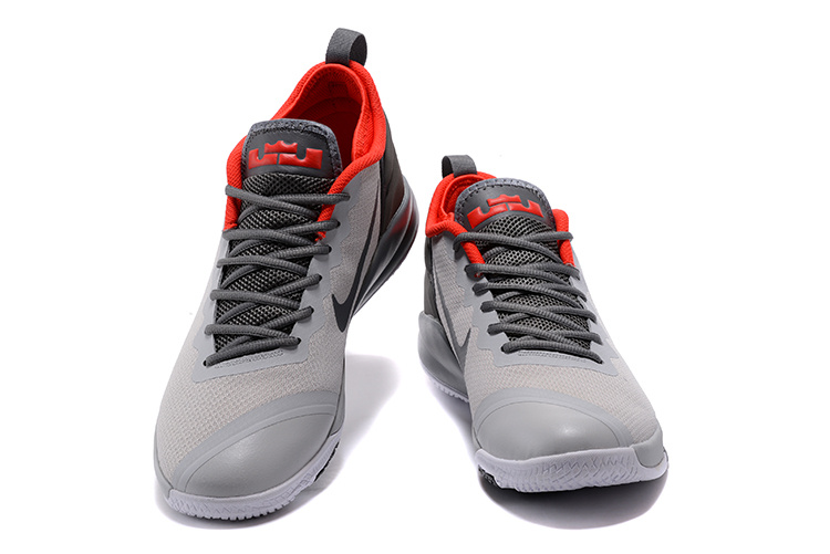 165d136d757b Nike LeBron Zoom Witness 2 Grey Black Red Basketball Shoes Free Shipping