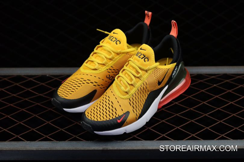 Nike Air Max 270  Tiger  Black University Gold-Hot Punch-White ... 26ebab47a
